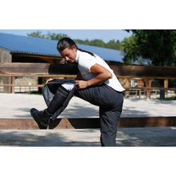 Sobrepantalón impermeable equitación 500 2en1 negro