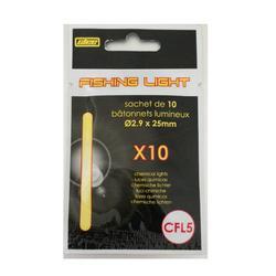 10 lichtsticks T5 2,9 x 25 mm zeehengelen