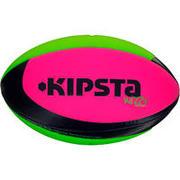Balón de rugby playa talla 4 verde rosa