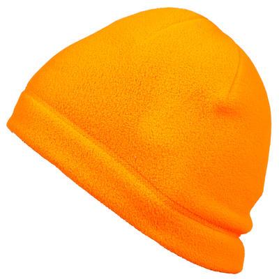 Gorro adulto Solognac Taiga 100 Calido Naranja Fluo