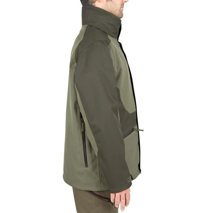 VESTE TRAQUE CHASSE SUPERTRACK 300 IMPERMEABLE VERT