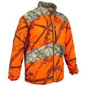 Chasuble orange fluorescent compactable, léger et silencieux.