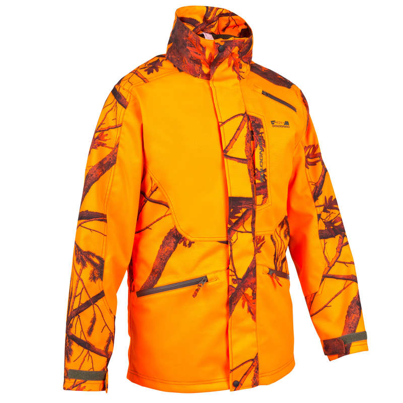 HIGH VIS DRIVEN/TRACK CLOTHING Clothing  Accessories - SUPERTRACK 300 HUNTING JACKET KAMO HIGH VISIBILITY SOLOGNAC - Clothing  Accessories