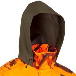 Chaqueta Caza Solognac Supertrack 500 Impermeable Antidesgarros Naranja Fluo