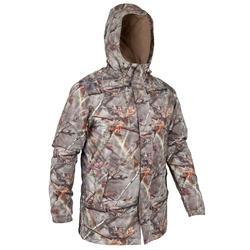 保暖狩獵外套100-迷彩棕色