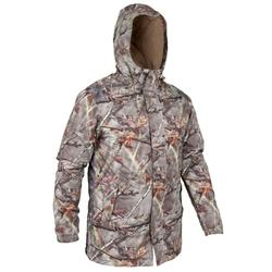 VESTE CHASSE POSIKAM 100 IMPERMEABLE CAMOUFLAGE MARRON