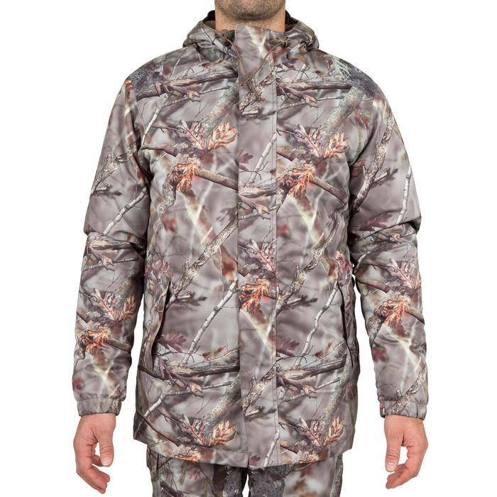 Veste chasse Posikam 100 imperméable camouflage marron - 42262