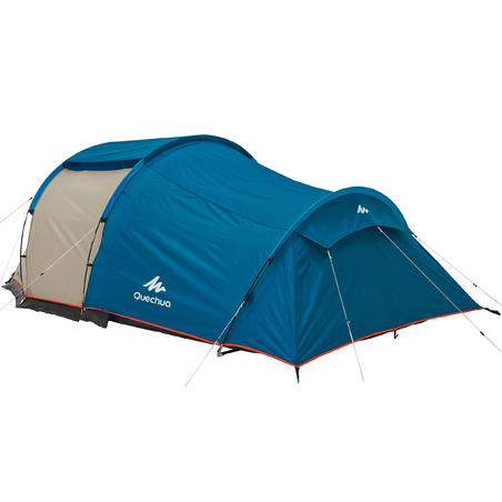Camping tent with poles - Arpenaz 4 - 4 Person - 1 Bedroom