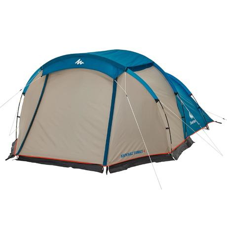 Arpenaz 4 family camping tent 4 people quechua for Living room quechua