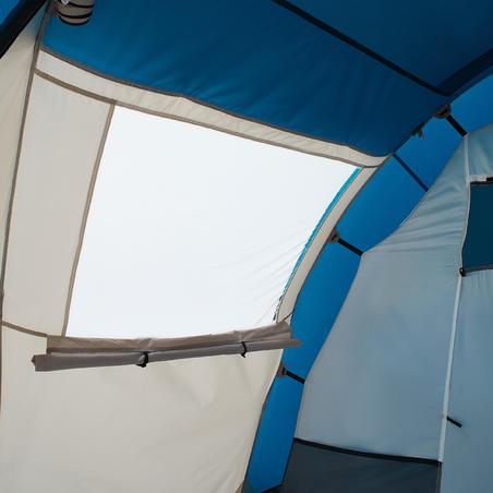 Sivo-plavi šator za kampovanje ARPENAZ za 4 osobe