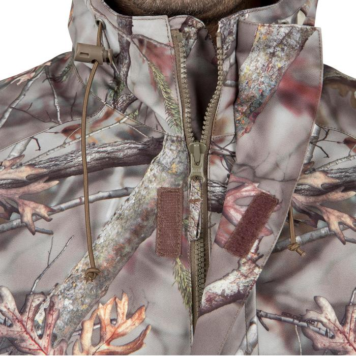 Veste chasse Posikam 100 imperméable camouflage marron - 42270