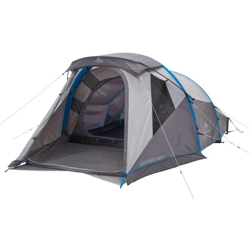 TOURING CAMP TENTS, TARPS - Air Seconds Family 4 Inflatable Tent - 4 Man QUECHUA