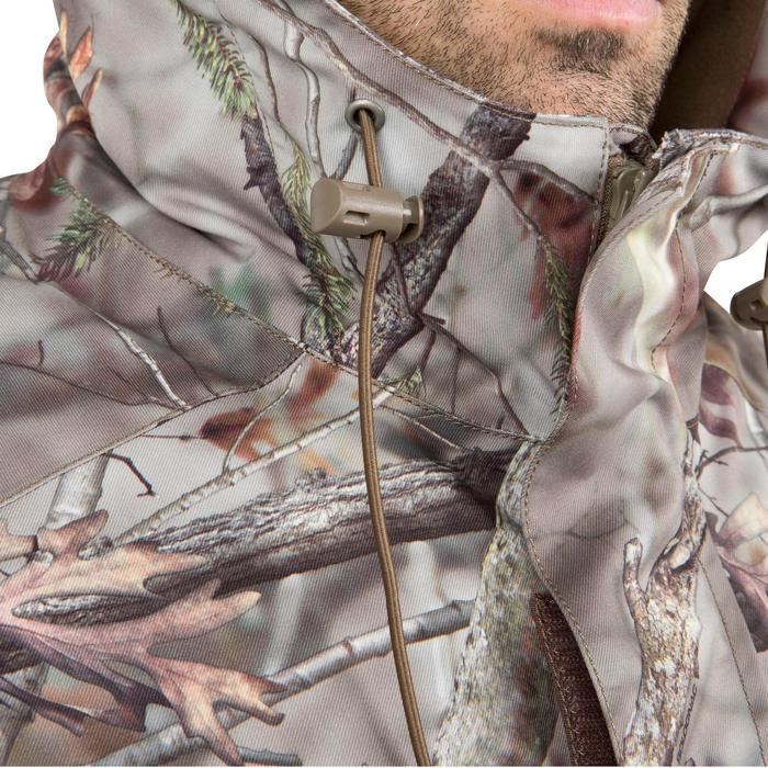 Veste chasse Posikam 100 imperméable camouflage marron - 42274