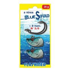 Texan loodkoppen 25 g 3/0 x2 voor vissen op zee