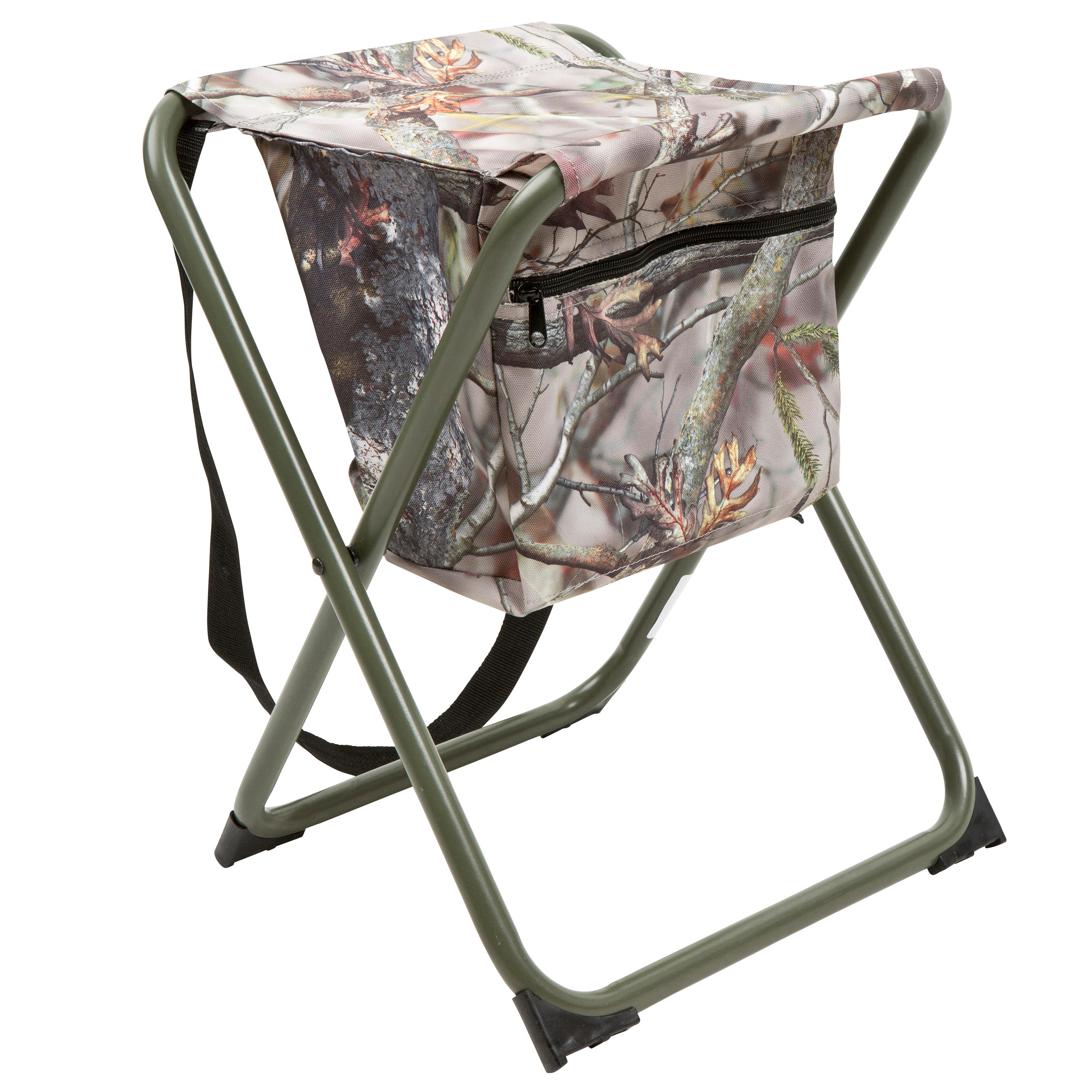Chaise chasse poche camouflage marron