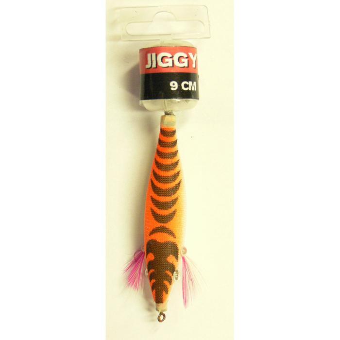 Inktvisplug drijvende JIGGY oranje 2.5 9 cm voor vissen op zeekat en pijlinktvis