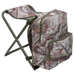 Jagersstoel met rugzak camouflage bruin