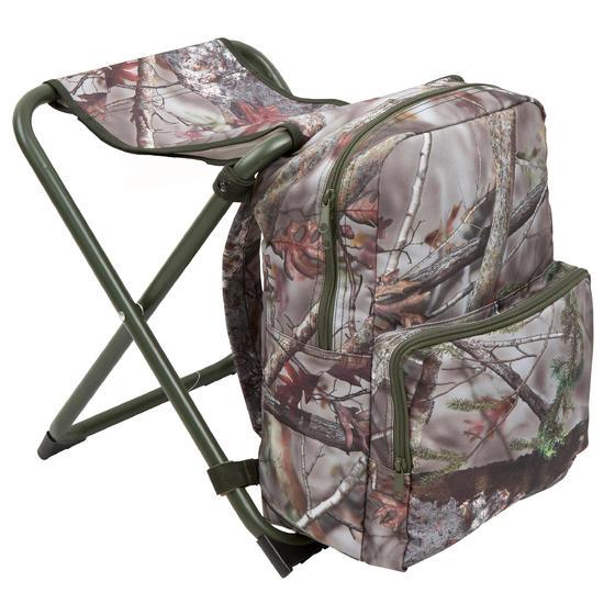 Jagersstoel met rugzak camouflage bruin - 42323