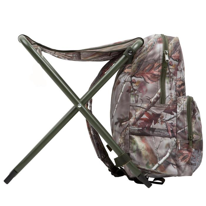 Chaise chasse sac à dos camouflage marron