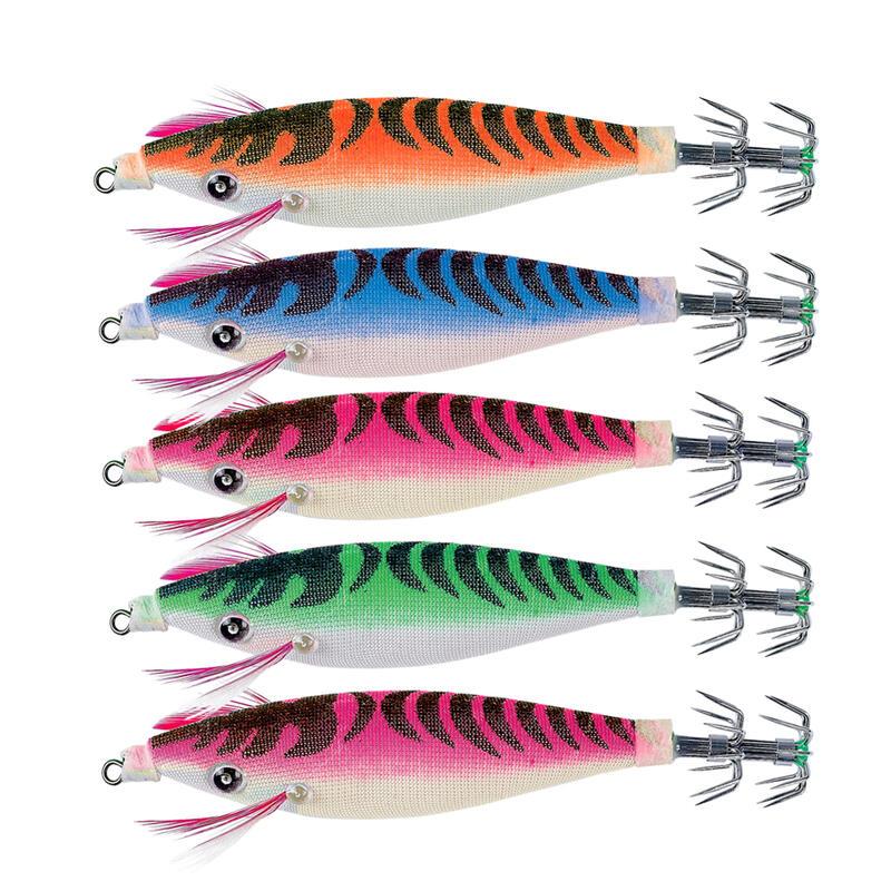 Pack Jibioneras Squider Pesca Sepias Calamares Flotantes x5