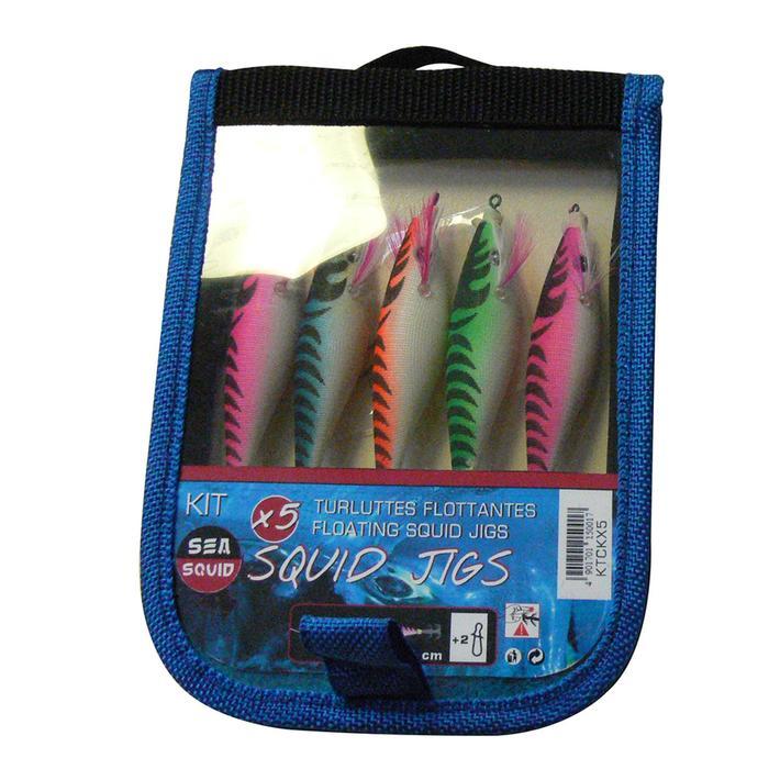Pack turluttes Squider flottant x5 pêche des seiches/calamars