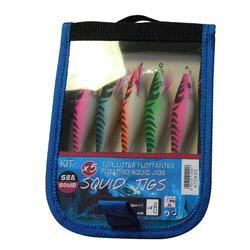 Set inktvispluggen squider drijvend 5 stuks voor zeekat/pijlinktvis