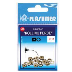 Rolling met gaatje T10 x10 zeehengelen