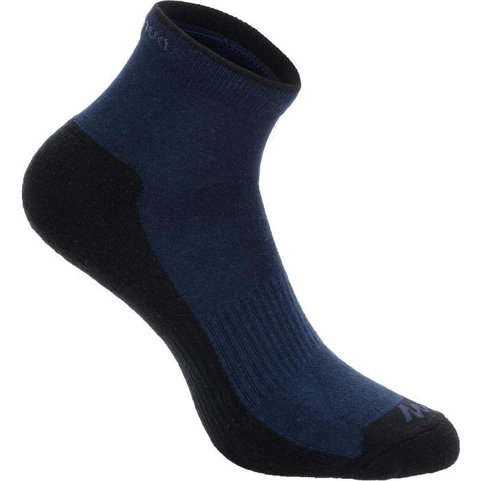 Sokken voor wandelen in de natuur NH100 mid marineblauw 2 paar