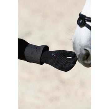 Gants équitation adulte TRICOT noir - 424023