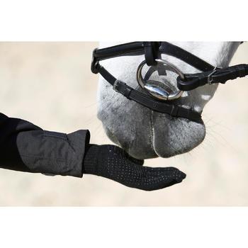 Tricot rijhandschoenen voor volwassenen zwart
