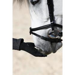 Gants équitation adulte TRICOT noir