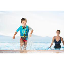 Chaleco de natación espuma azul-rojo