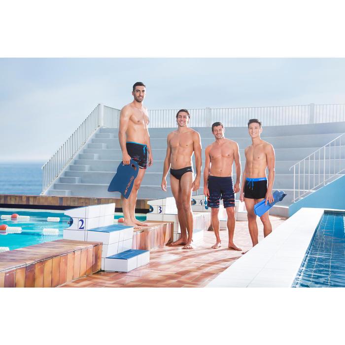 Korte heren zwemshort 150 zwart rood