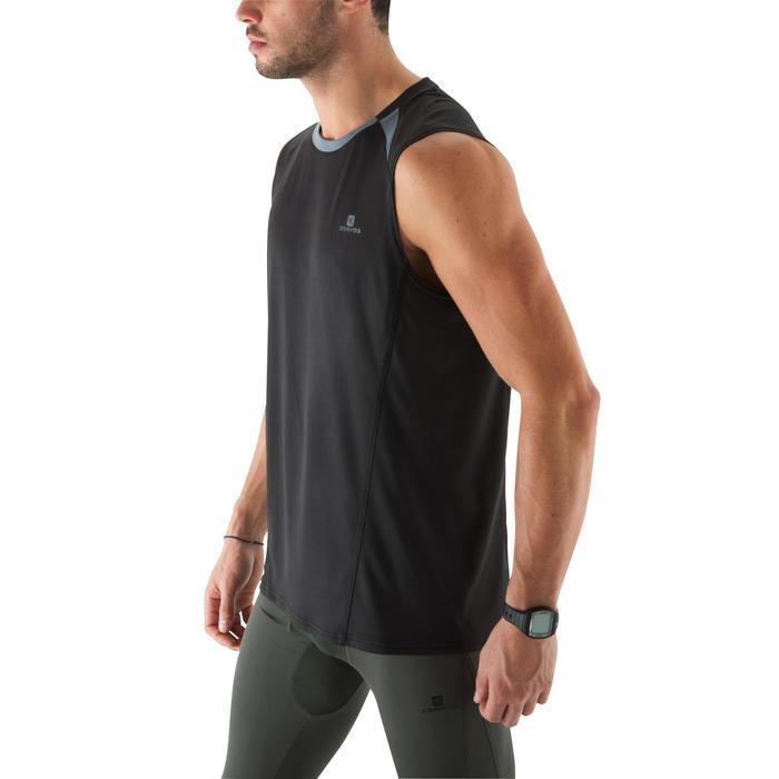 Camiseta Sin Mangas Deportiva Fitnes Cardio Domyos Hombre Negro Transpirable