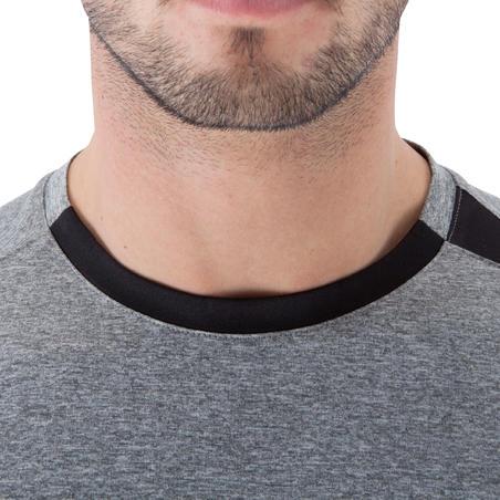 Tee shirt LIGHT BREATHE fitness homme gris chiné clair imprimé