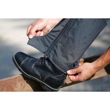 Sur pantalon imperméable équitation 500 2en1 noir - 424627