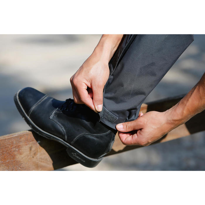 Sur pantalon imperméable équitation 500 2en1 noir - 424630