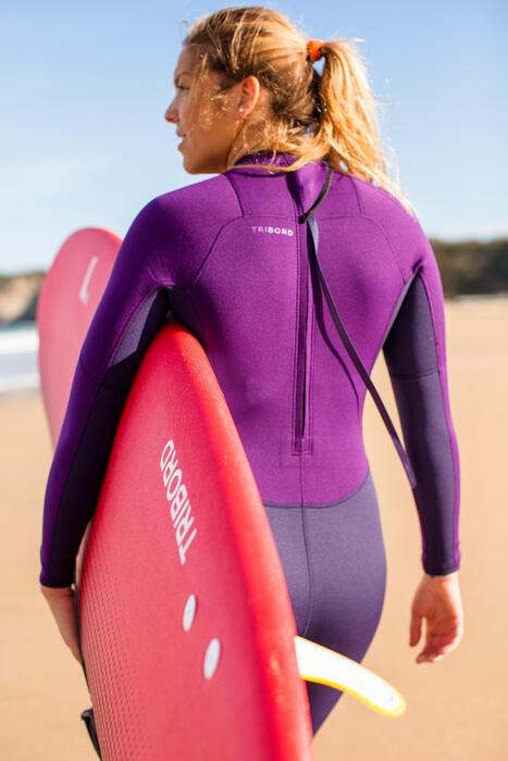 tribord combinaison surf 100 n opr ne 2 2 mm femme violet. Black Bedroom Furniture Sets. Home Design Ideas