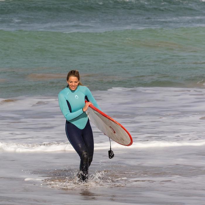 Combinaison SURF 100 Néoprène 4/3 mm Femme bleu - 42478