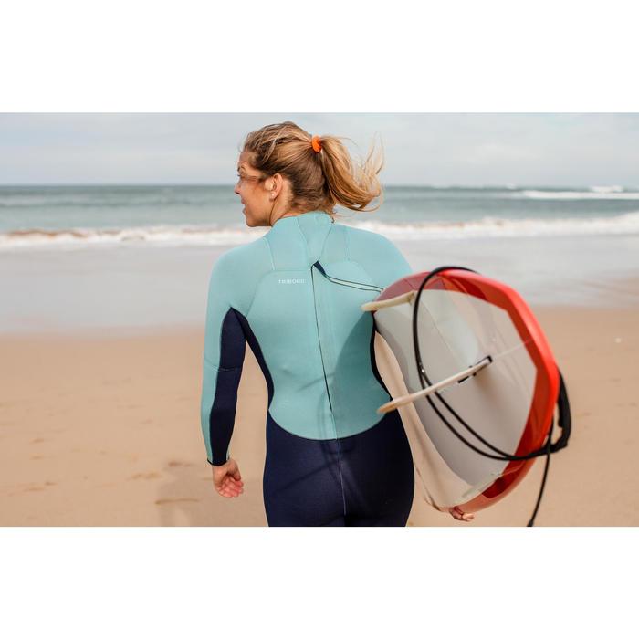 Combinaison SURF 100 Néoprène 4/3 mm Femme bleu - 42479