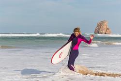 Dames surfpak 900 neopreen 3/2 mm fuchsia - 42488