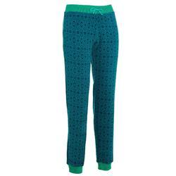 Forclaz 50 女士刷毛健行褲- 藍色 綠色