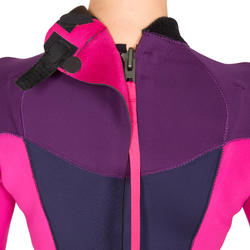 900 Women's 3/2 mm Neoprene Surfing Wetsuit - Fuchsia