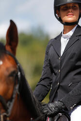 Wedstrijdjasje Classic voor dames, ruitersport, zwart - 425669
