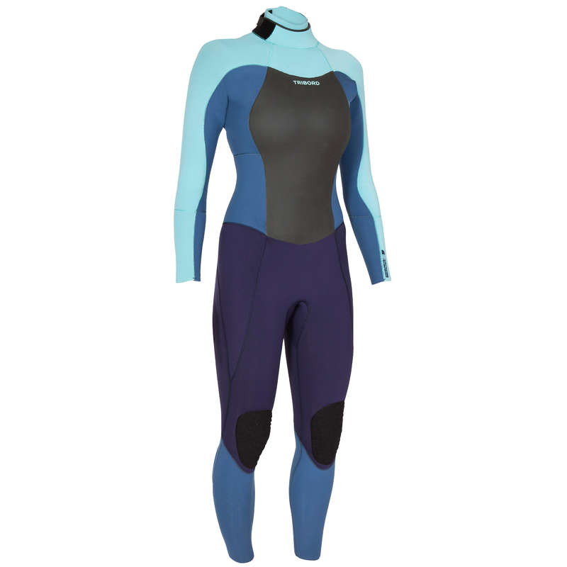 COLD WATER WETSUIT - SURF WETSUIT 500 WOMENS 5/4/3 mm Grey OLAIAN