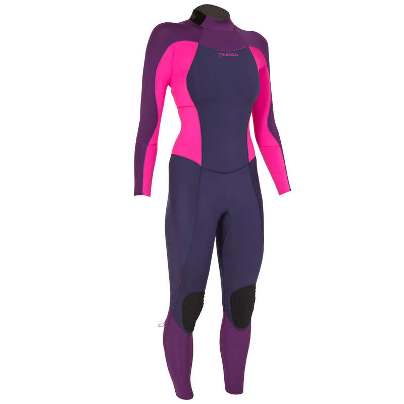 TEMPERED WATER WETSUIT - 900 W 3/2 mm Surf Suit Fuchsia OLAIAN