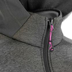 Warme stretch damessweater voor trekking Forclaz 900 gemêleerd - 42581