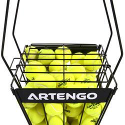 Tennisballenmand voor coaches zwart - 425965