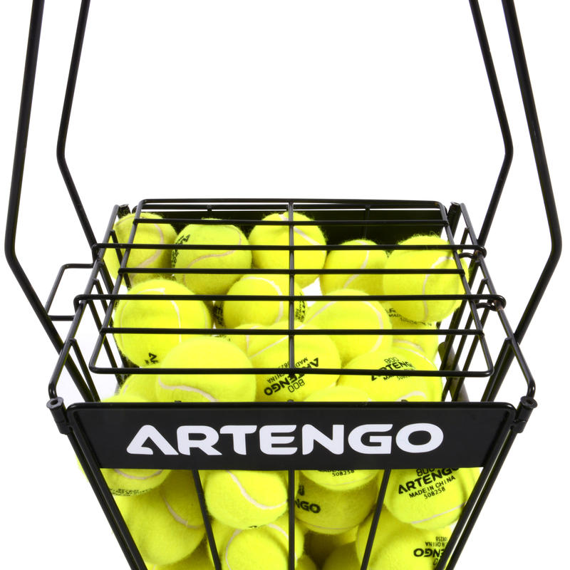 Tennis Ball Basket for Coaches - Black