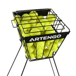 Tennisballenmand voor coaches zwart - 425979